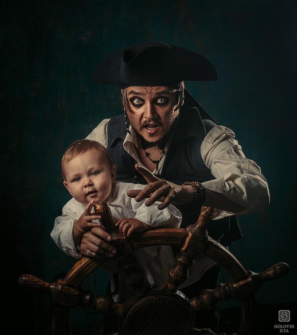 Съемка с сыном) фотография, пираты, Дети