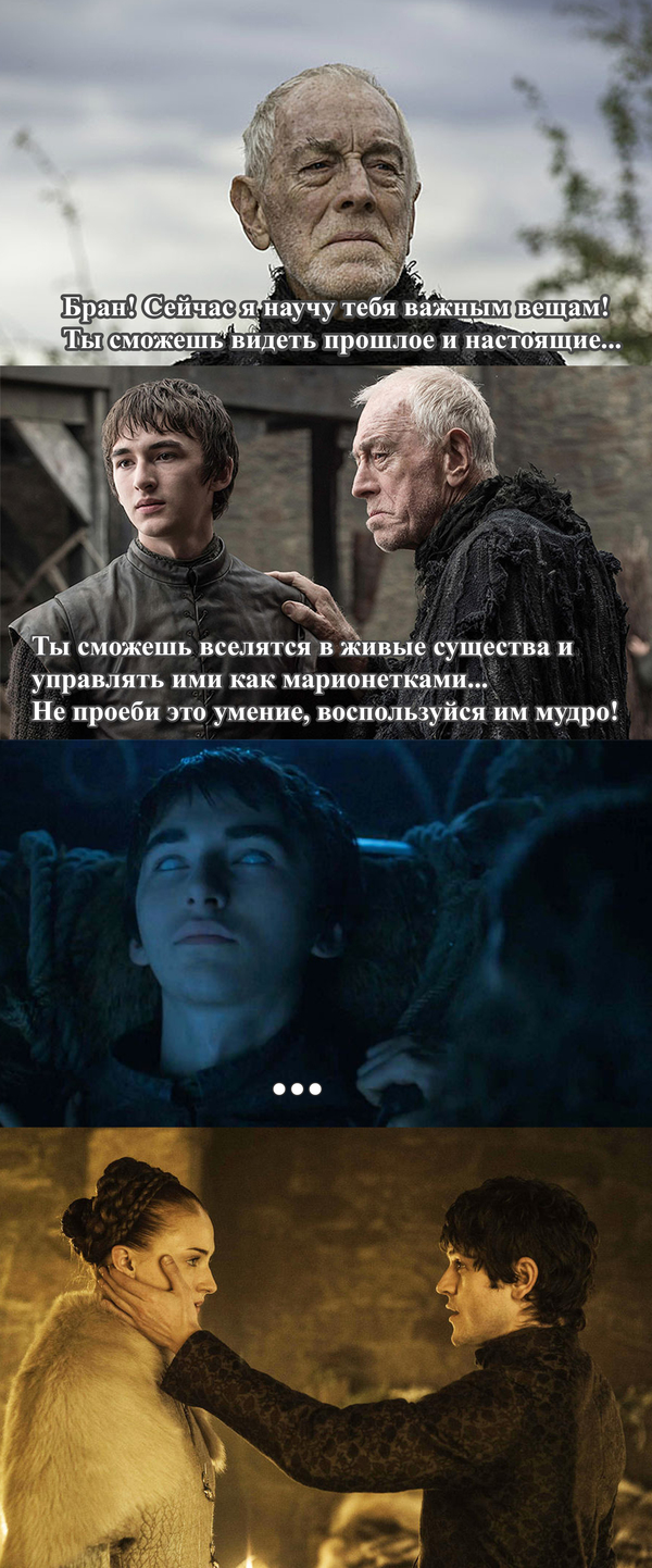 Мощь Трехглазого Ворона Игра престолов, Бран Старк