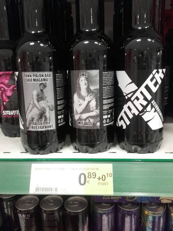 Такие вот мемасы на бутылках с энергетиком мемы, маркетинг, Эстония