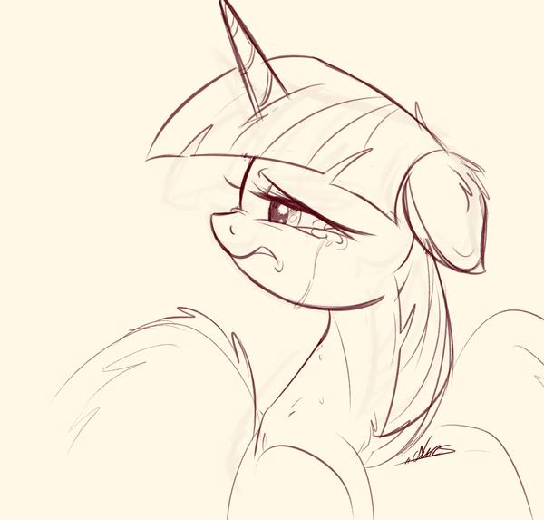 Emotional My Little Pony, ponyart, Twilight Sparkle, mlp sad