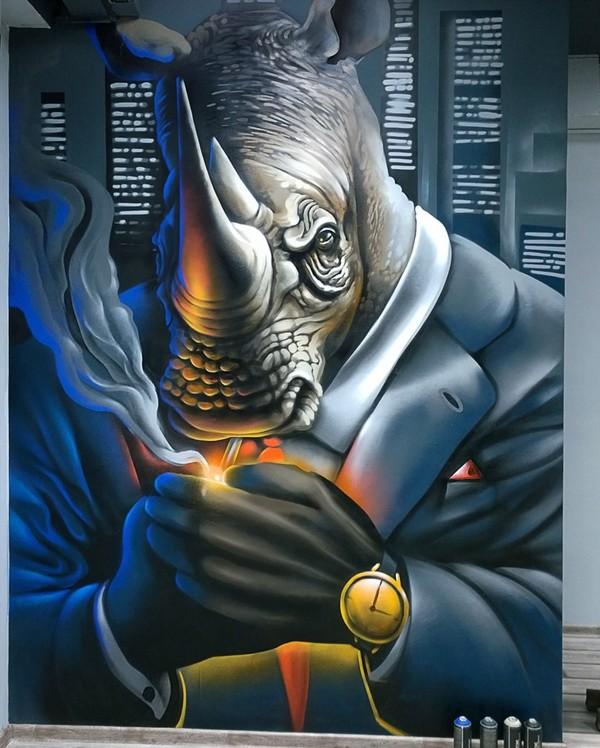 Продолжаем тему стрит арта в Краснодаре. арт, Краснодар, граффити, Стрит - арт, длиннопост