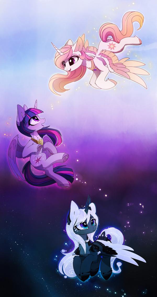 Light-Harmony-Darkness My Little Pony, ponyart, Princess Celestia, Twilight Sparkle, Princess Luna