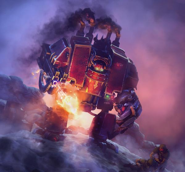 Chaos Dreaddy boy Warhammer 40k, wh art, хаос, имперская гвардия, дредноут