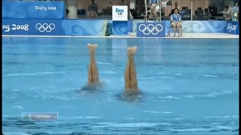 Синхронистки. Синхронное плавание, Олимпийский чемпион, Гифка