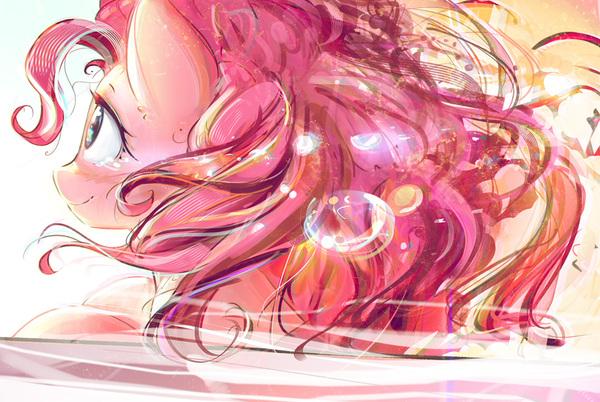 Goodbyememories My Little Pony, ponyart, Pinkie Pie, mirroredsea