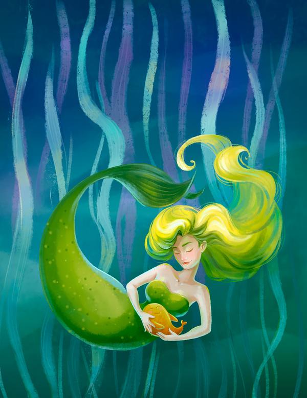 Русалочка-милашка моё, пятничный тег моё, русалка, русалочка, море, иллюстрации, сказка