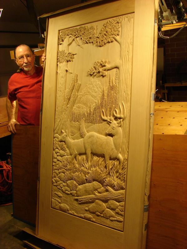 Дверь резьба по дереву, дверь, животные, ремесло