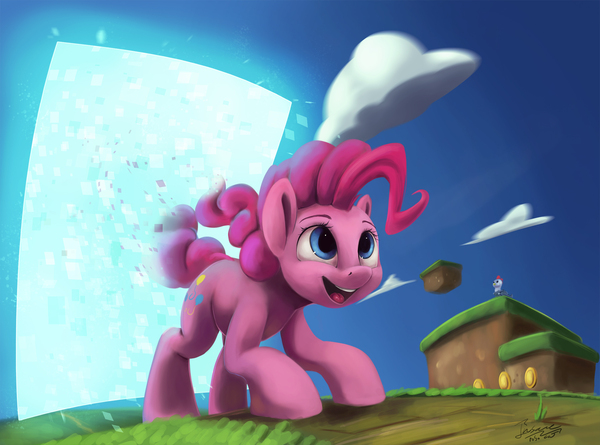 Pinkie Has Joined The Game my little pony, Pinkie Pie