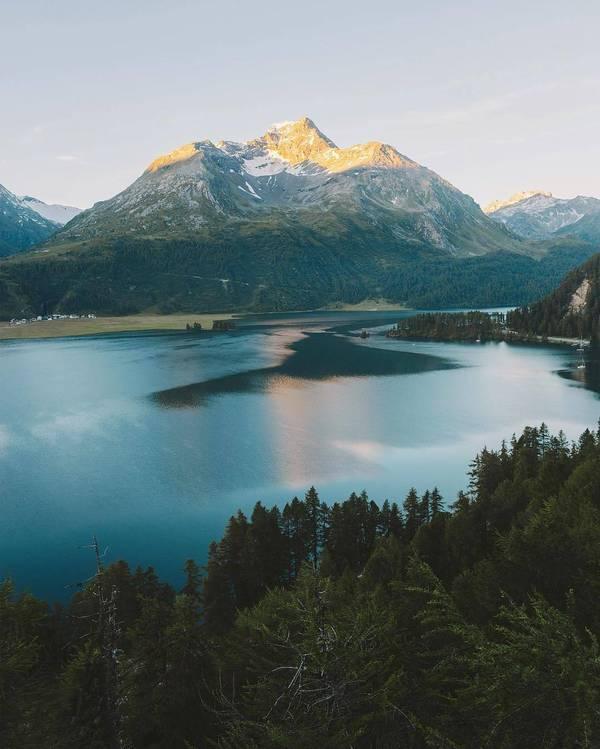 Красота нашего земного шара Озеро, швейцария, красота