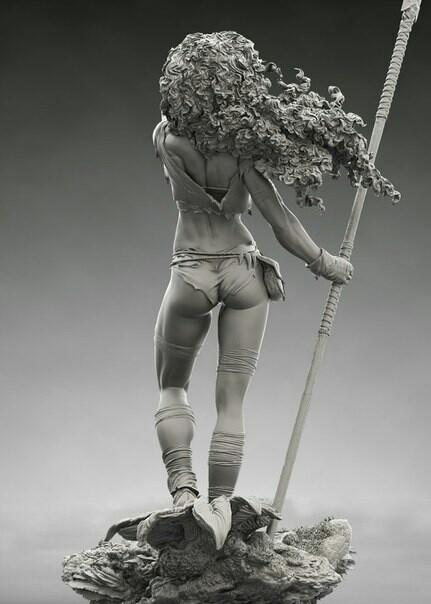 Sheridan Doose Искусство, скульптура, идеальная фигура, длиннопост, рендер, 3D