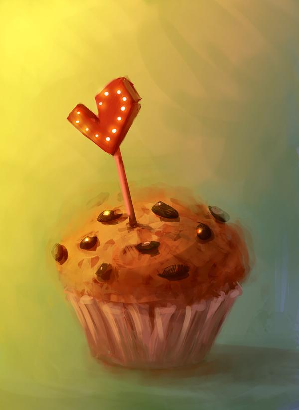 Любви к подписчикам пост рисунок, арт, Photoshop, кекс, благодарность