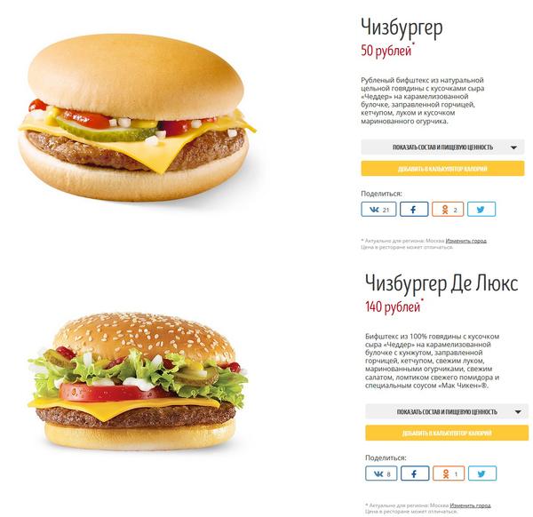 Ценообразование в макдаке макдоналдс, еда, Пахнет наебаловом