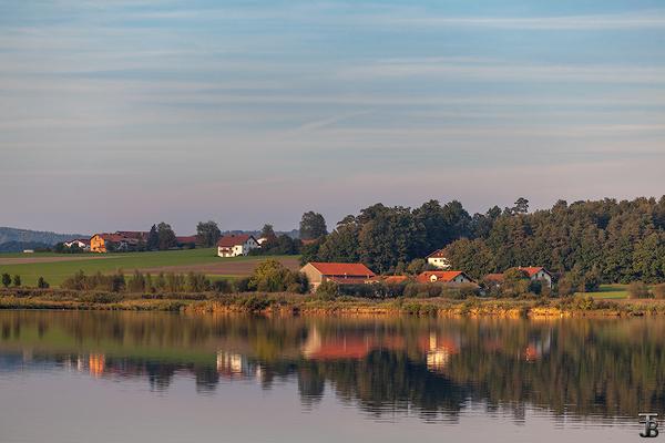 Вечер на озере Озеро, фотография, пейзаж, Природа, вечер, осень