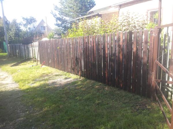 Забор установлен забор, работа с деревом, сделай сам, своими руками, штакетник, оригинальный забор, длиннопост