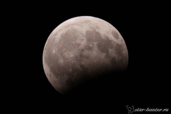 Лунное затмение 7 августа 2017 года. Лунное затмение, луна, астрофото, астрономия, космос, StarHunter, АнапаДвор