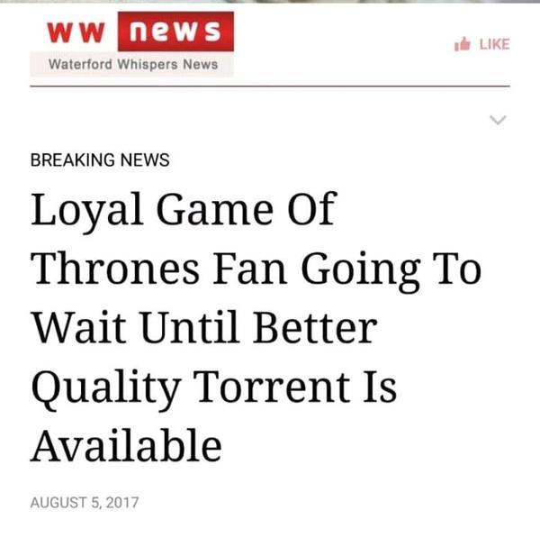 Верный до гроба reddit, Игра престолов, фанаты, Пиратство