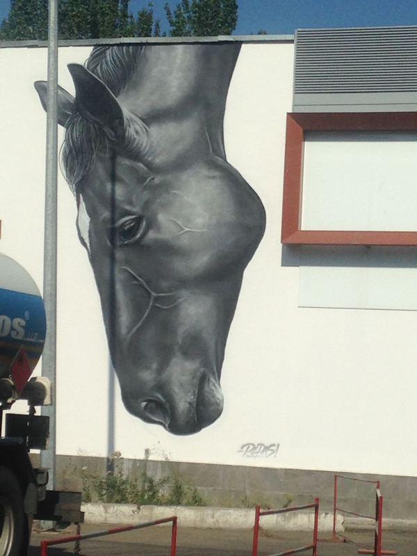 Красивое граффити в Алматы. БМ не ругался)
