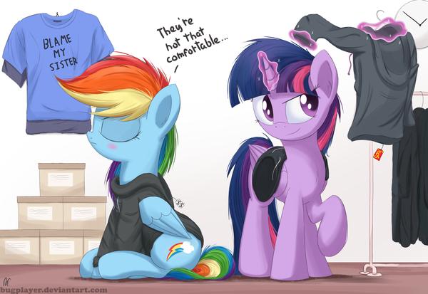 Resistance is futile My Little Pony, ponyart, Rainbow Dash, Twilight Sparkle, Bugplayer
