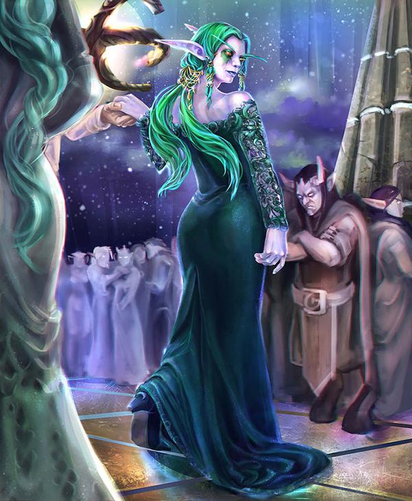 На балу World of Warcraft, цифровой рисунок, арт