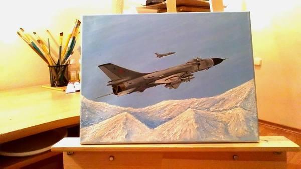 Мой Су-15ТМ рисунок, Авиация, картина маслом, Су-15ТМ, своими руками