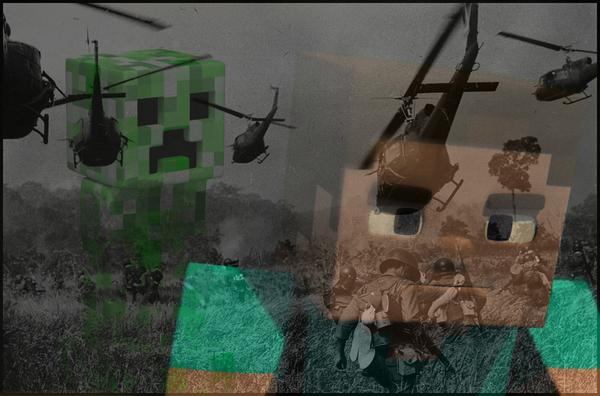 То чувство, когда... они повсюду minecraft, игры, Ветераны, боль