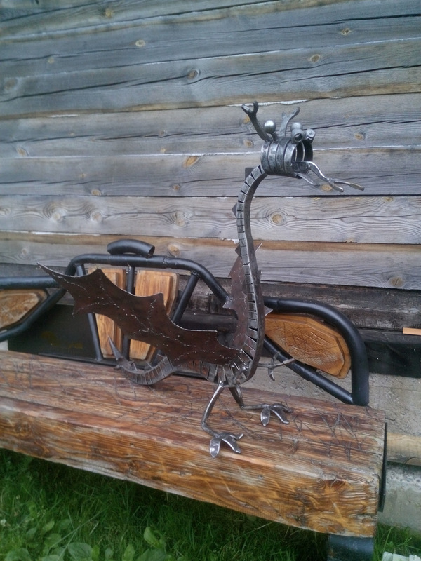 Дракон .Скульптура из металла. дракон, сделай сам, рукоделие с процессом, змея, змей, сварка, япония, змей горыныч, длиннопост