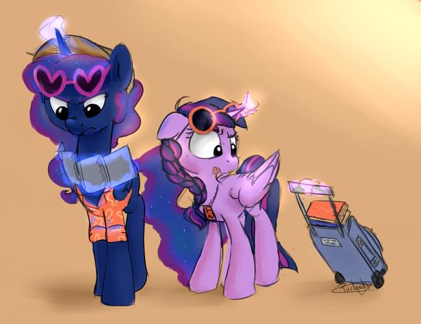 Where are we going? My Little Pony, ponyart, Princess Luna, Twilight Sparkle, PucksterV