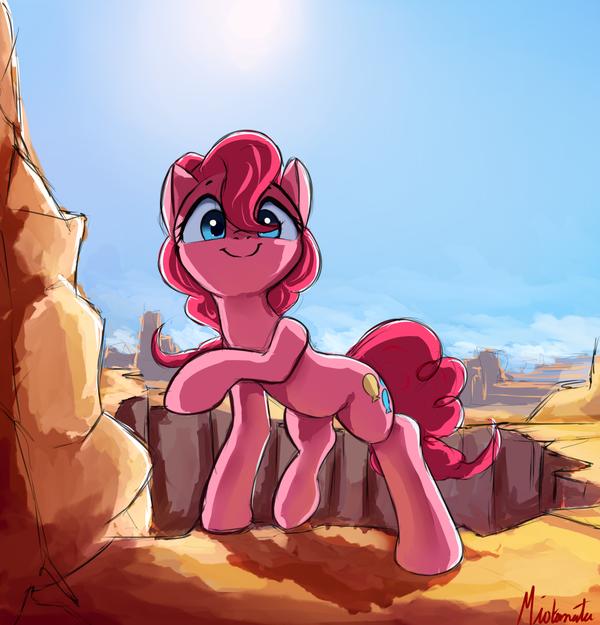 Canyons My Little Pony, ponyart, Pinkie Pie, miokomata