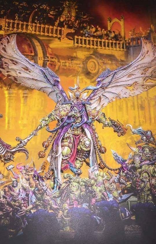 Модель Мортариона - чумного повелителя Гвардии Смерти Warhammer 40k, Wh News, wh miniatures, Death Guard, длиннопост, wh art