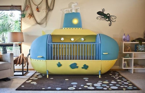 Креативный папа создал детскую кроватку в виде подводной лодки детская кроватка, подводная лодка, Папа, рукоделие, сам сделал, длиннопост