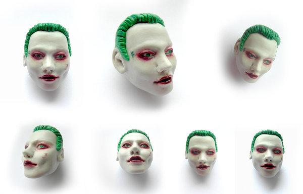 Фанатка Джокера попросила брелок - голову Джокера =D Необычное решение для необычного персонажа (X Работа из полимерной глины)