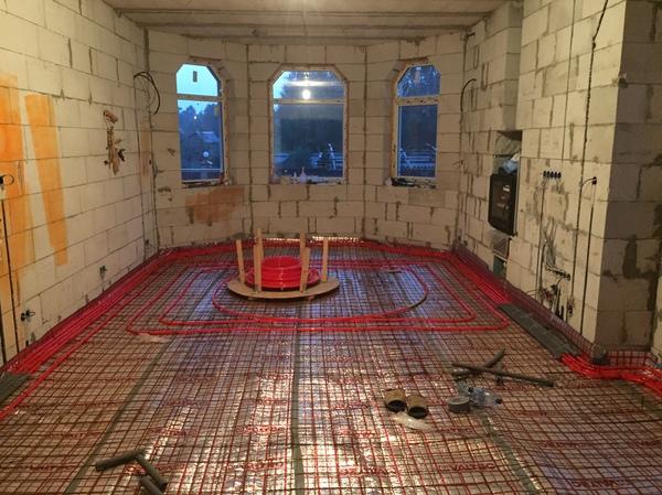 Каркасно-монолитные перекрытия, тёплые полы. Часть 2 Строительство, ремонт, свой дом, теплый пол, перекрытия, моё, длиннопост