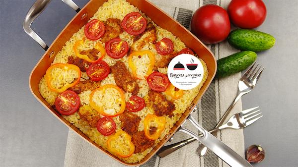 ЛЕНИВАЯ СКОВОРОДА. Идея быстрого обеда для тех, кто ценит время еда, рецепт, вкусная минутка, курица, блюда из курицы, для ленивых, ленивые, кулинария, видео, длиннопост