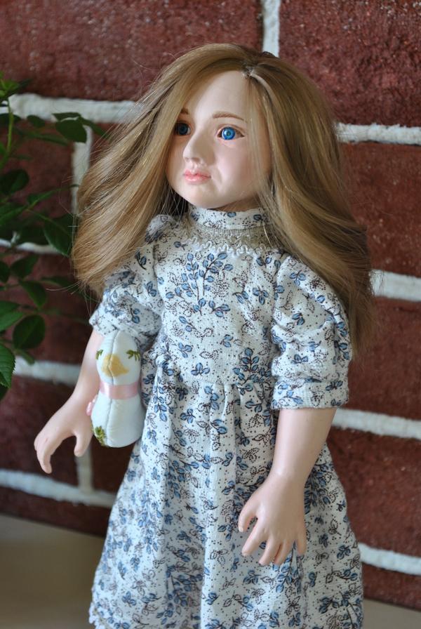 Маруся,кукла из полимерной глины) Кукла, полимерная глина, ручная работа, длиннопост