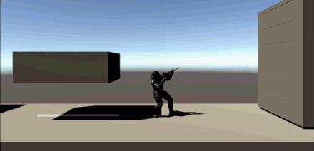 Neverstar: начало разработки игры в жанре платформер-шутер gamedev, unity, neverstar, инди, инди игра, ПК, гифка, длиннопост