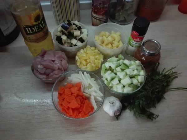 Овощное рагу с курицей Похудение, калории, правильное питание, еда, рецепт, рагу, длиннопост