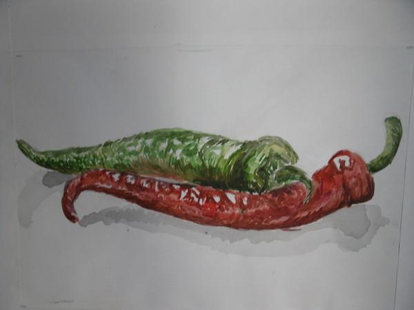Вкуснопост=)))) Несколько вкусностей и полезностей) рисунок карандашом, акварель, натюрморт, длиннопост