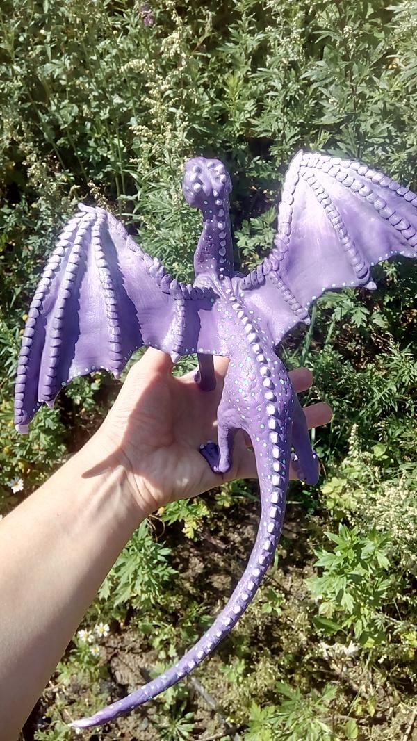 Дракон из полимерки. Перекрашенный. дракон, руколепка, полимерная глина, драконы офигенны, Фотография, длиннопост