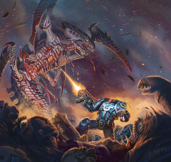 Работы jacob atienza Warhammer 40k, wh art, тираниды, орки, космодесант, имперская гвардия, хаос, длиннопост