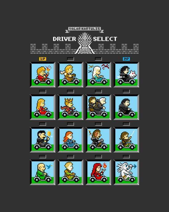 Персонажи Игры престолов в стиле Mario Kart Игра престолов, Марио