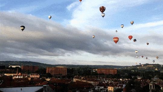 Гонка на воздушных шарах.