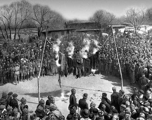 Сожжение паранджи. Установление советской власти в Узбекистане, 1920-е.