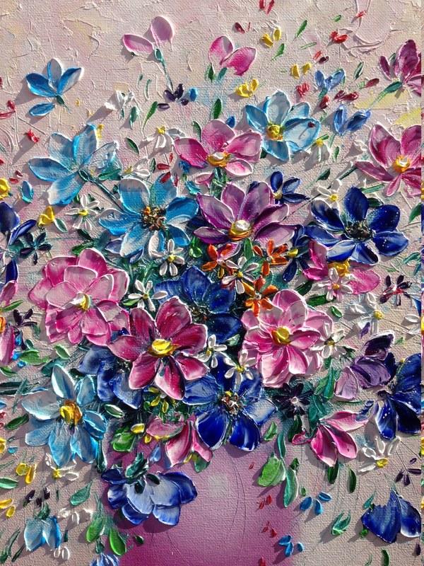 Моя мастихиновая живопись) картина, картина маслом, мастихин, творчество