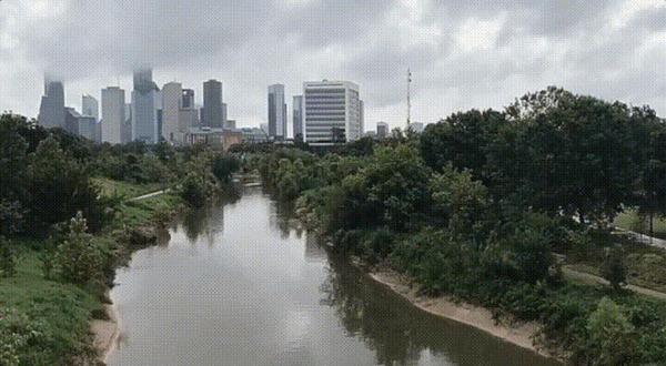 До и после урагана Харви в Хьюстоне