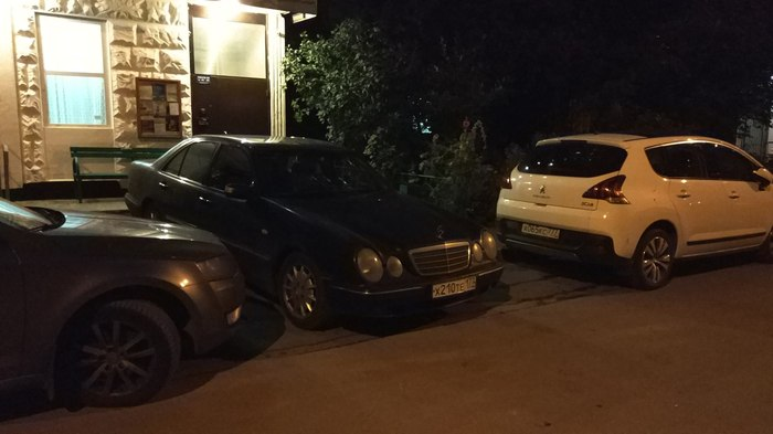 Ты не ты... Паркуюсь где хочу, Неправильная парковка, Мерседес, Парковка, Двор, Тротуар