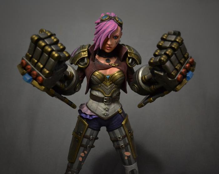Vi из League of Legend League of Legends, Vi, Фигурка, Полимерная глина, Лепка, Своими руками, Длиннопост