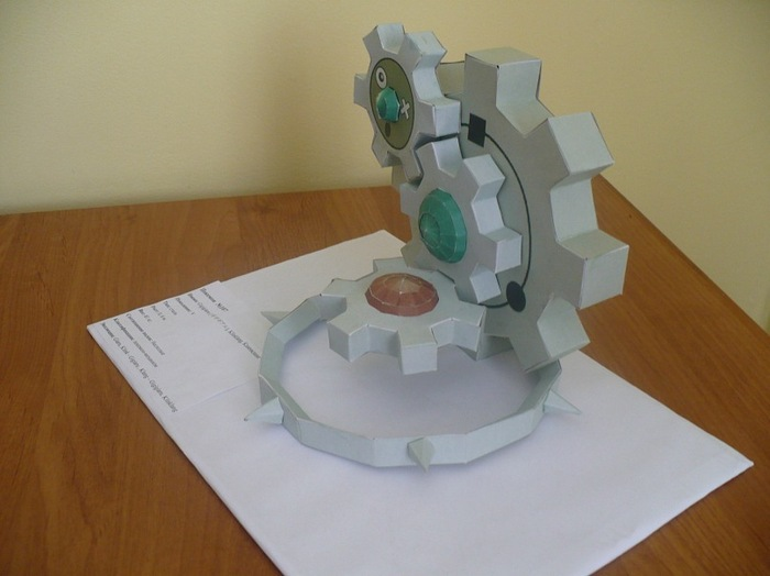 Паперкрафт. КлингКлэнг. Papercraft, Покемоны, Изделия из бумаги, Рукоделие без процесса, Длиннопост