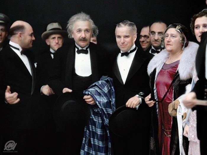 Относительно смешно Чаплин, Альберт Эйнштейн, Шутка