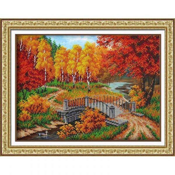 Осень в вышивке Осень, Настроение осень, Бисер, Вышивка бисером