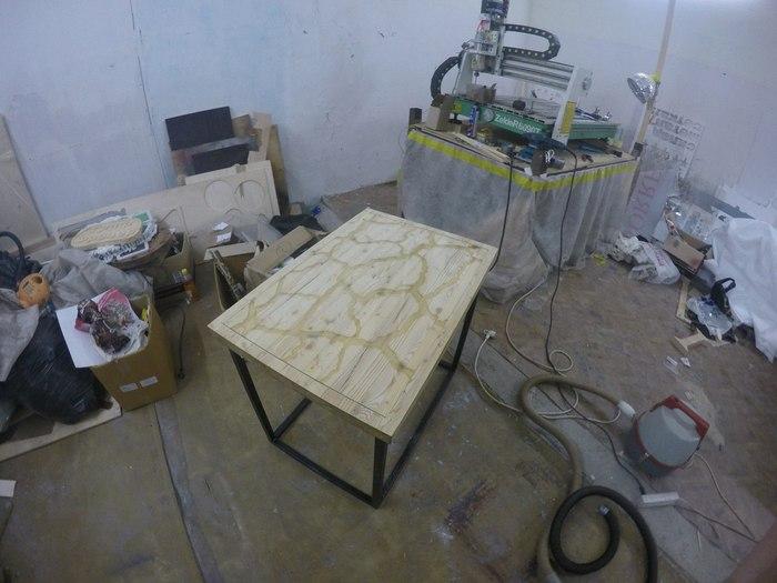 Чайный столик и немного магии! Люминофор, Стол, Идея, Мебель, Длиннопост